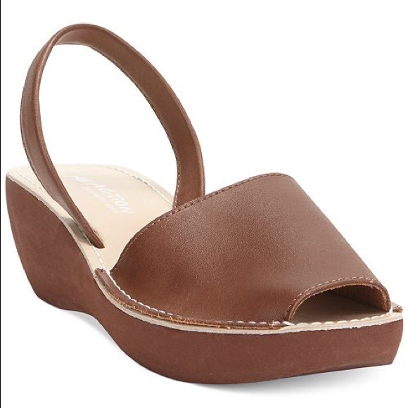 8a44ee5abdad Kenneth Cole Reaction Brown Platform Wedge Sandals